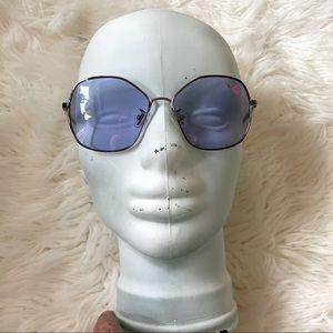 Coach L1062 Gunmetal Lavender Flower Sunglasses